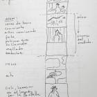 dibujos de tracing, encontrados en mi cuaderno, 2009